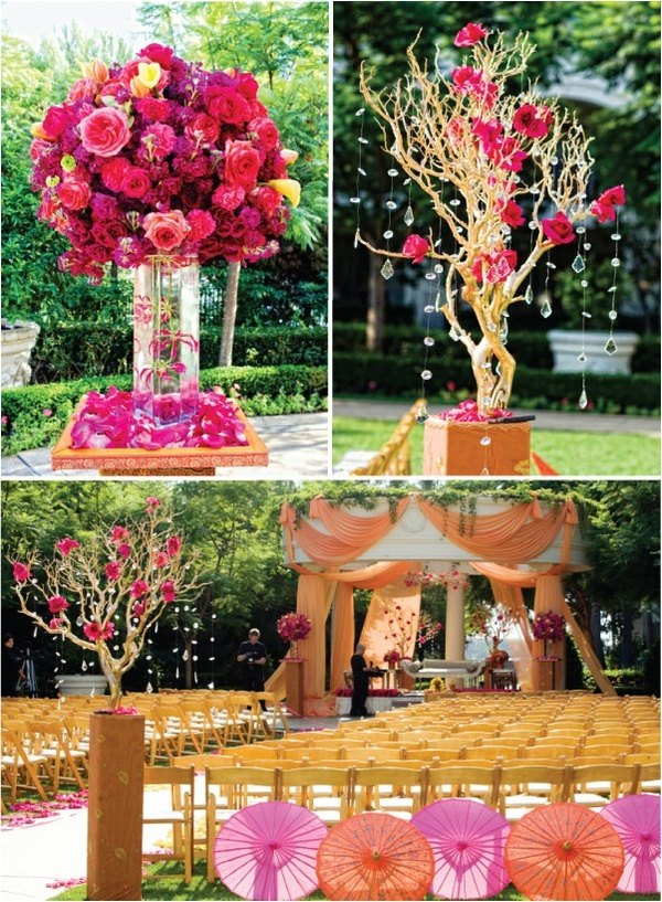 Pink Orange Indian Wedding Brand Bash